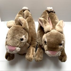 Cute warm bunny slippers fits medium to large